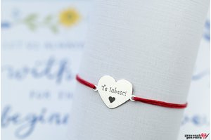 Bratara MY HEART 15mm TEXT