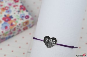 Bratara MY HEART 15mm WHITE GOLD 14K FOTO