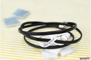 Bratara INFINITY 30mm PURE LEATHER WRAP