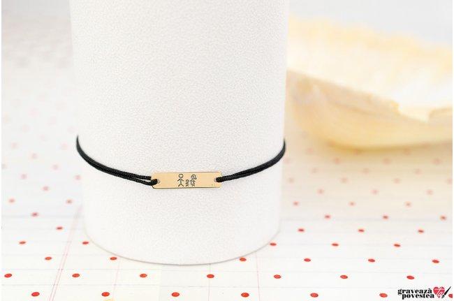 Bratara SMALL PLATE 18mm GOLD 14K TEXT