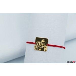 Bratara SQUARE 16.5mm FOTO placata cu aur