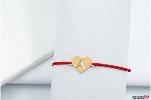 Bratara Your Initial HEART 11mm GOLD 14K