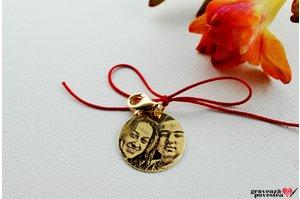 Clips pentru breloc COIN 22mm FOTO placat cu aur