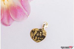 Clips pentru breloc I LOVE YOU 23mm FOTO placat cu aur