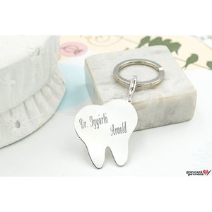 Breloc TOOTH 33mm TEXT