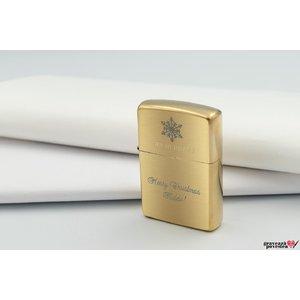 Bricheta ZIPPO auriu-mat TEXT