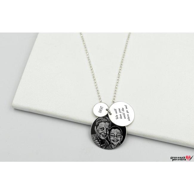 Colier unisex 3 COINS FOTO (Lant Beads)