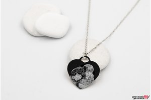 Colier CHARM HEART 20mm FOTO