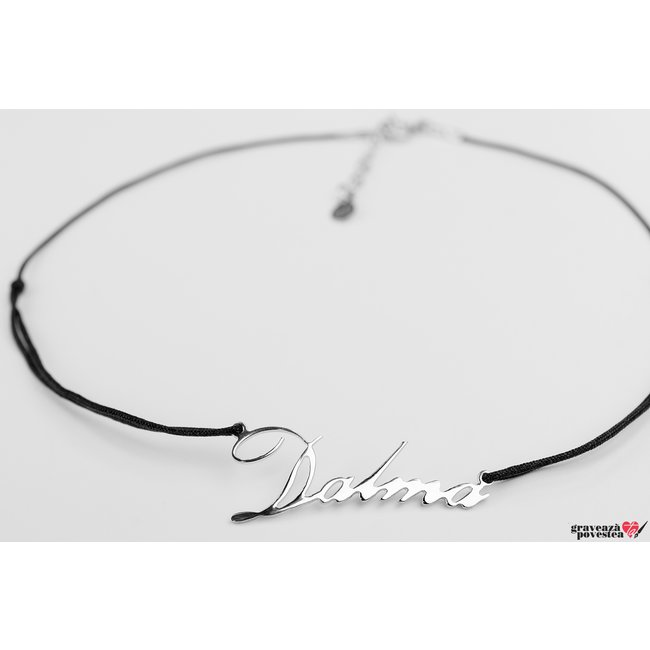 Colier CHOKER NUME - YOUR NAME TEXT + SIMBOL