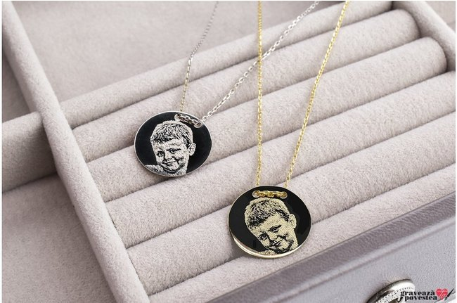 Colier COIN 15mm GOLD 14K FOTO