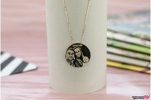Colier COIN 20mm PURE GOLD 14K FOTO