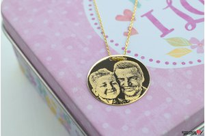 Colier COIN 20mm GOLD 14K FOTO