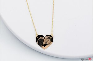 Colier FOLLOW YOUR HEART 18mm GOLD FOTO