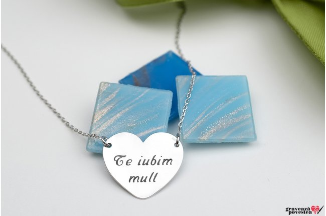 Colier FOLLOW YOUR HEART 20mm TEXT