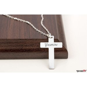 Colier FOR HIM - THE CROSS 28mm TEXT