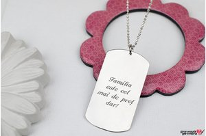 Colier FOR HIM - THE LARGE PLATE 50mm BALL TEXT