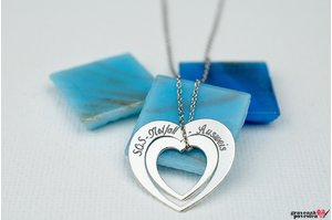 Colier HEART IN HEART 20mm TEXT