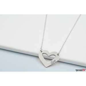 Colier HEART SHAPE 20mm TEXT