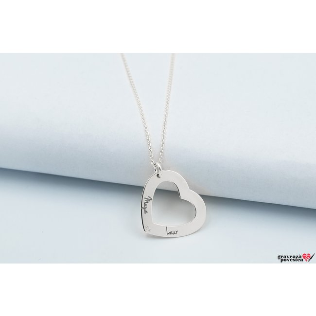 Colier HEART SHAPE 22mm TEXT