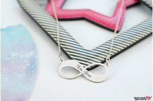 Colier INFINITY 30mm TEXT
