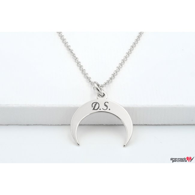 Colier MINI CRESCENT MOON 15mm