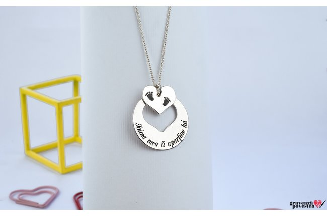Colier MY HEART IS YOURS 22mm TEXT