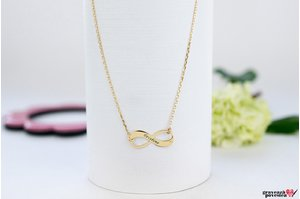 Colier NEW INFINITY 18mm PURE GOLD 14K