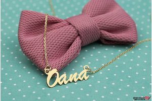 Colier NUME - YOUR NAME PURE GOLD 14K TEXT+ SIMBOL