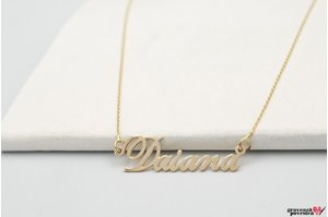 Colier NUME - YOUR NAME GOLD 14K TEXT+ SIMBOL