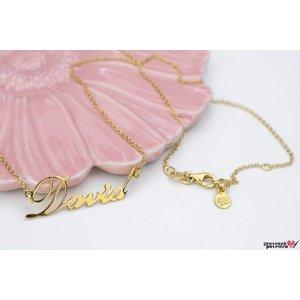 Colier NUME - YOUR NAME TEXT + SIMBOL placat cu aur