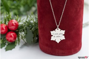 Colier SNOWFLAKE 20mm TEXT