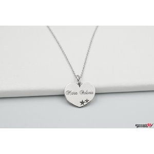 Colier STARS IN MY HEART 15mm TEXT