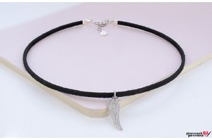 Colier SUEDE CHOKER WING 18mm