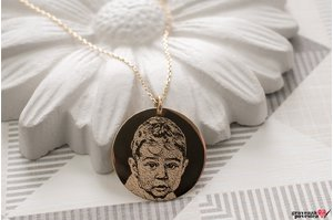 Colier THE COIN XL 20mm GOLD 14K FOTO