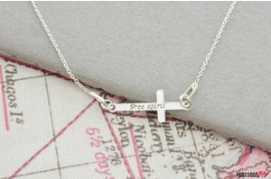 Colier  MINI CROSS 23mm TEXT