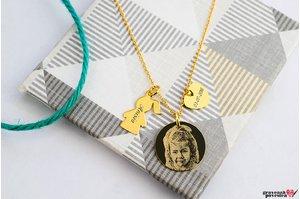 Colier THE DUCHESS GIRL FOTO placat cu aur