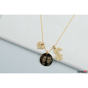 Colier YOUR DUCHESS GOLD 14K BOY/GIRL FOTO
