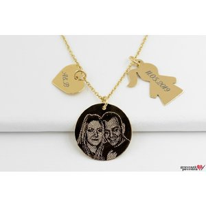 Colier DUCHESS GOLD 14K BOY/GIRL FOTO