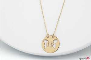 Colier YOUR KIDS COIN 19mm GOLD 14K TEXT