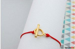 Inchizatoare suplimentara EASY LOCK -  MAXI  argint 925 placat cu aur  ( pentru snur GROS )
