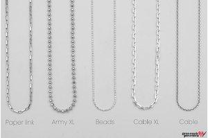 Lant FOR HIM - ARMY 55-60-65cm argint 925 (pentru orice pandantiv)