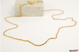 Lant SUPLIMENT unisex Cable (50 cm) placat cu aur