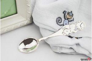 Lingurita BEBE argint 925 masiv 10cm TEXT sau FOTO