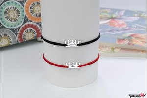 NOI DOI Set 2 bratari - MY CROWN 13mm TEXT