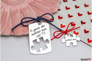 NOI DOI Set 2 pandantive YOU ARE MY PUZZLE 38mm TEXT