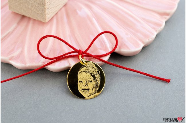 Pandantiv COIN 16.5mm placat cu aur FOTO