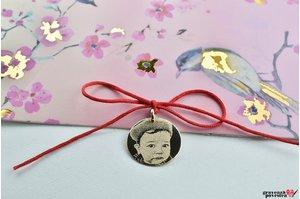 Pandantiv COIN 15mm GOLD 14K FOTO