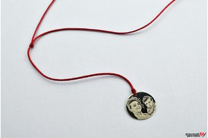 Colier snur COIN 15mm PURE GOLD 14K FOTO