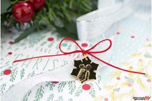Pandantiv SNOWFLAKE 20mm FOTO placat cu aur
