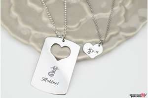 NOI DOI Set 2 coliere YOU ARE MY HEART 38mm TEXT